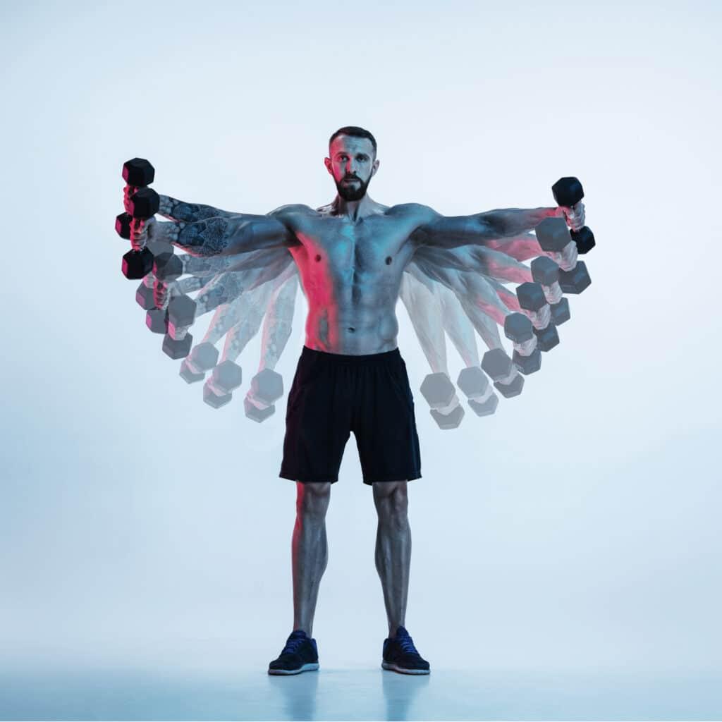 Bodybuilder Hanteln